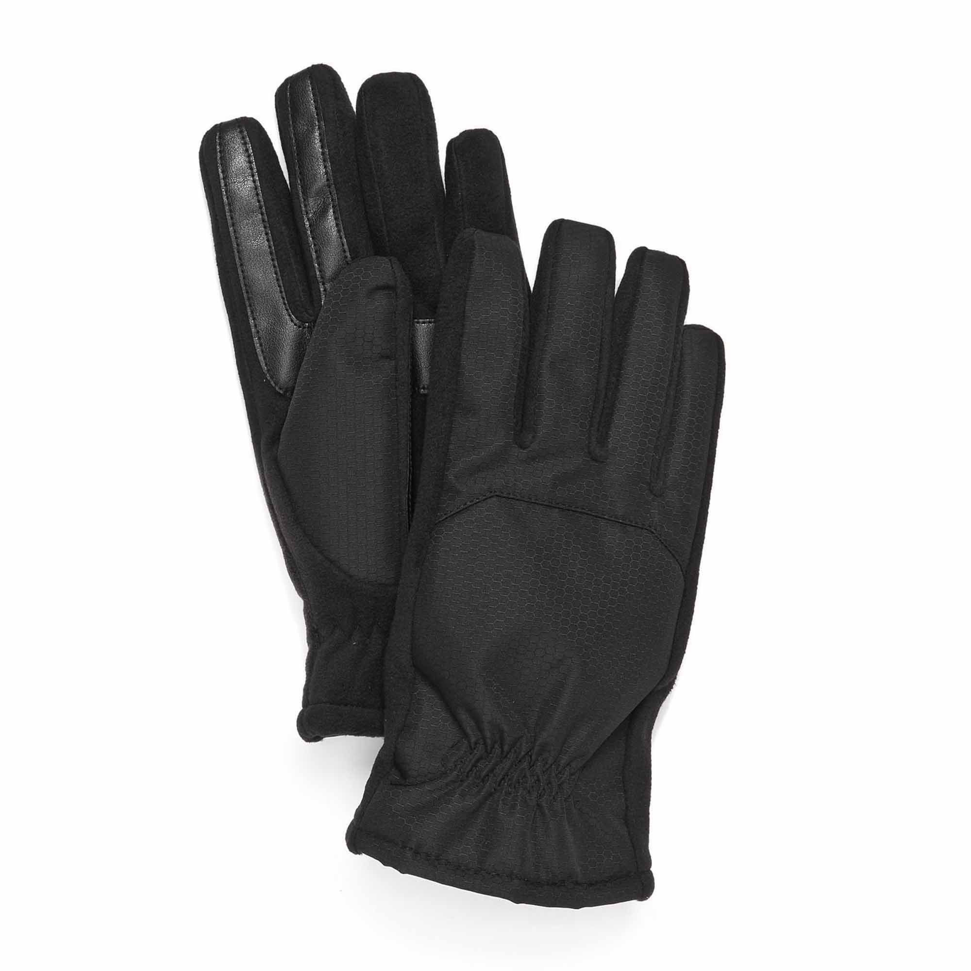 Mens gloves isotoner - Isotoner Signature Men S Matrix Smartouch Gloves Thermaflex Lined Black
