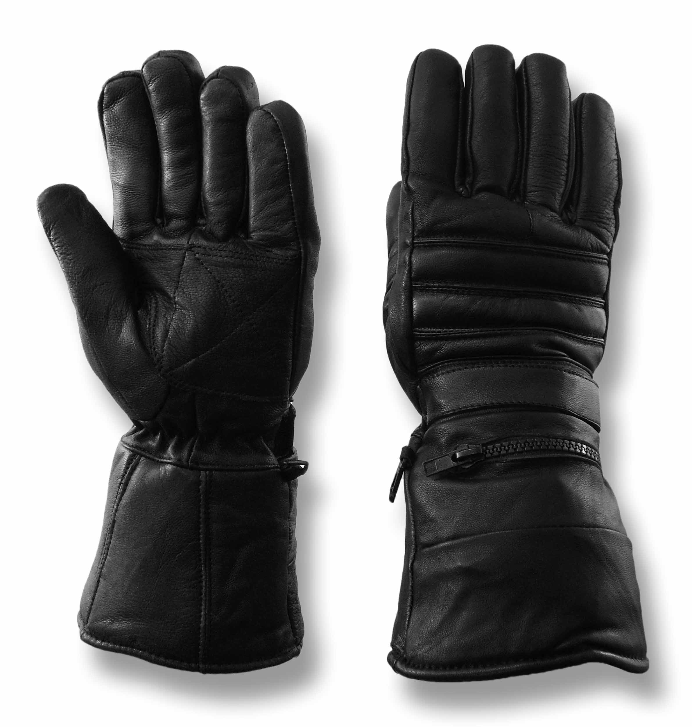 Motorcycle gloves singapore - Vance Leathers Men S Gauntlet Lambskin Motorcycle Riding Gloves Black
