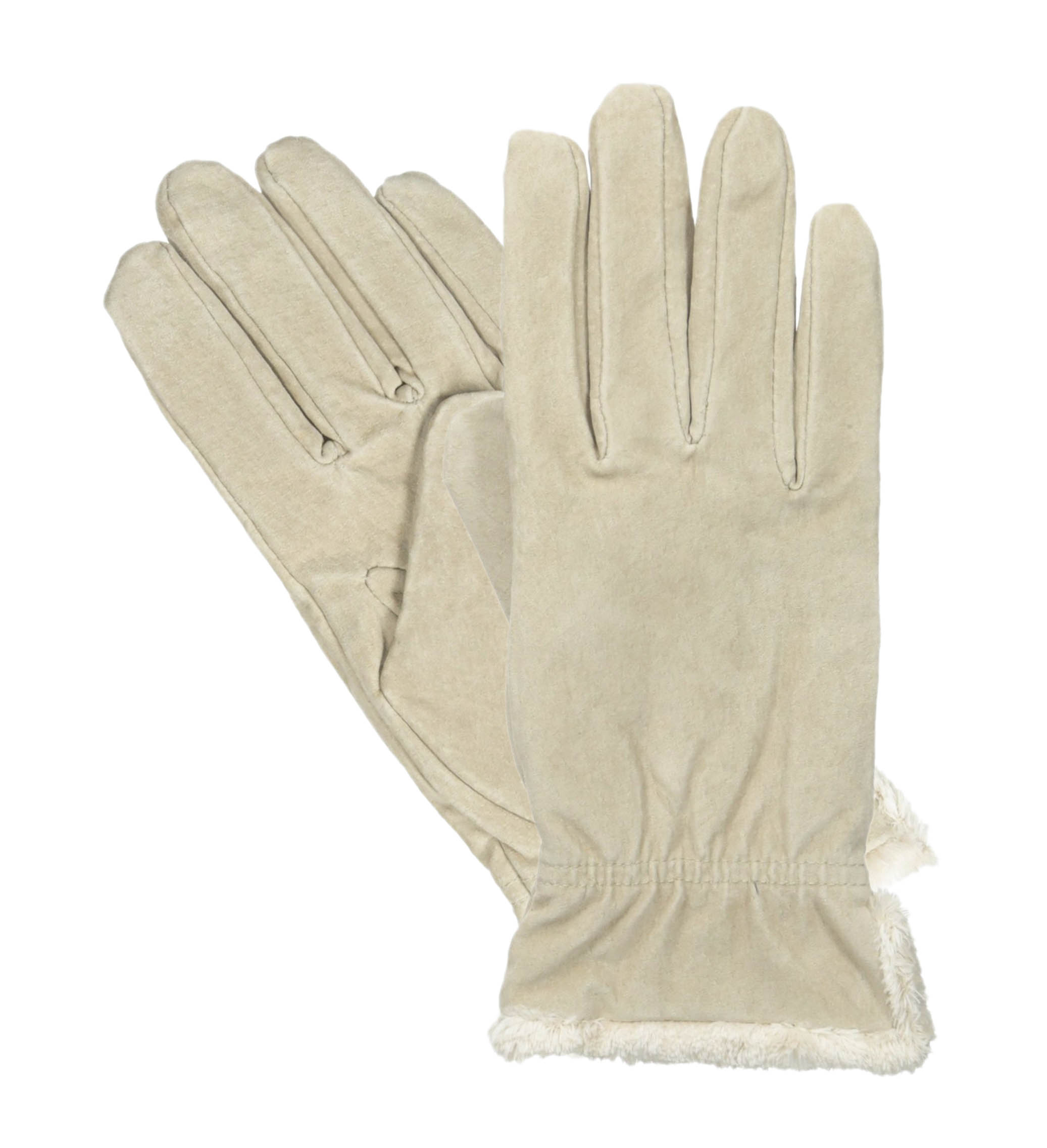 Womens beige leather gloves - Isotoner Women 039 S Microluxe Plush Lined Suede