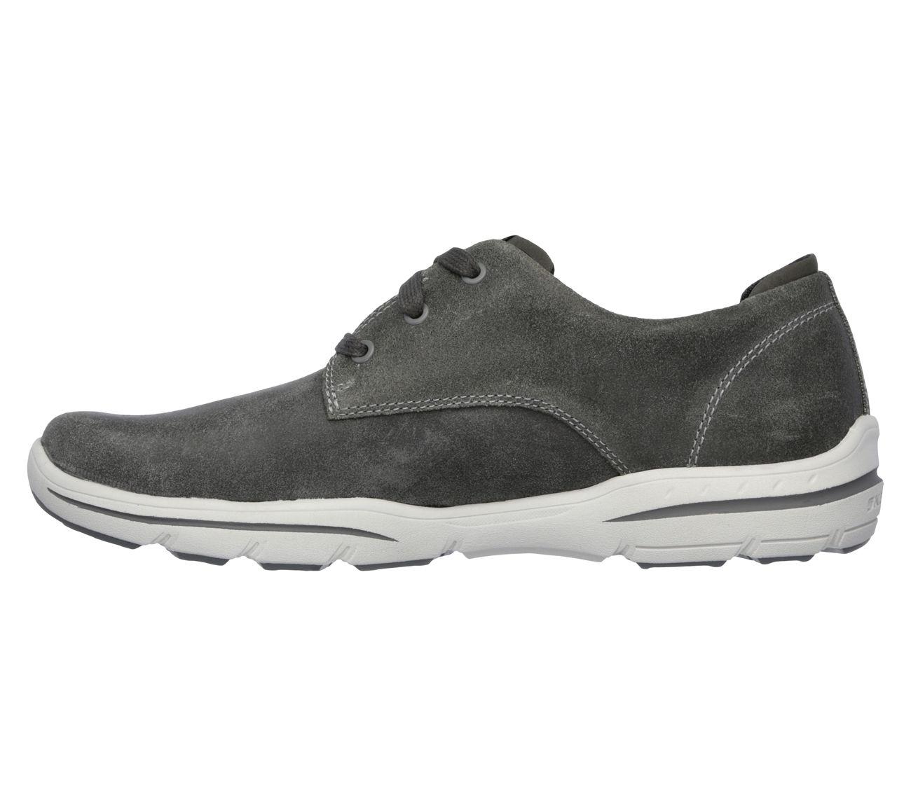 dc9ba9175d3f Skechers Men s Harper-Epstein Gray 64856 GRY Relaxed Fit Memory Foam