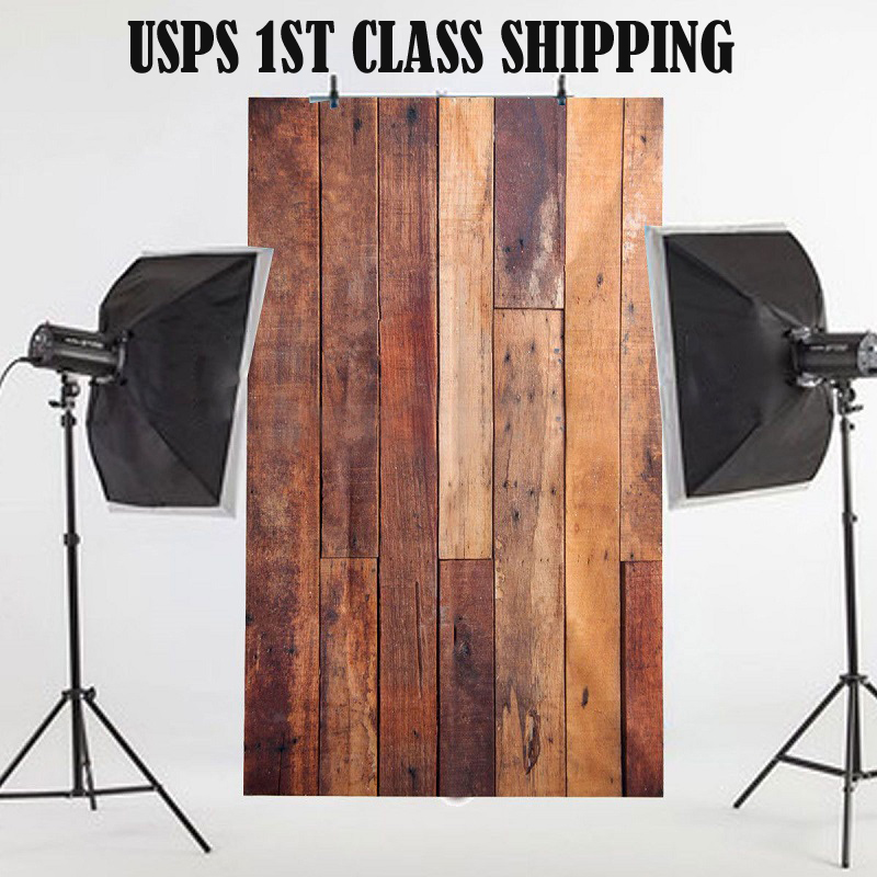 3x5FT Wooden Wall Studio Prop Vinyl Photo Background Photography Backdrop NEW