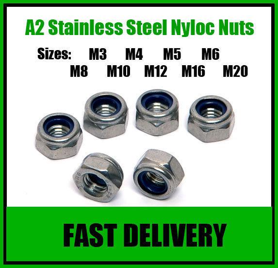 A2-Stainless-Steel-Nyloc-Nuts-M3-M4-M5-M6-M8-M10-M12-M16-M20-M24