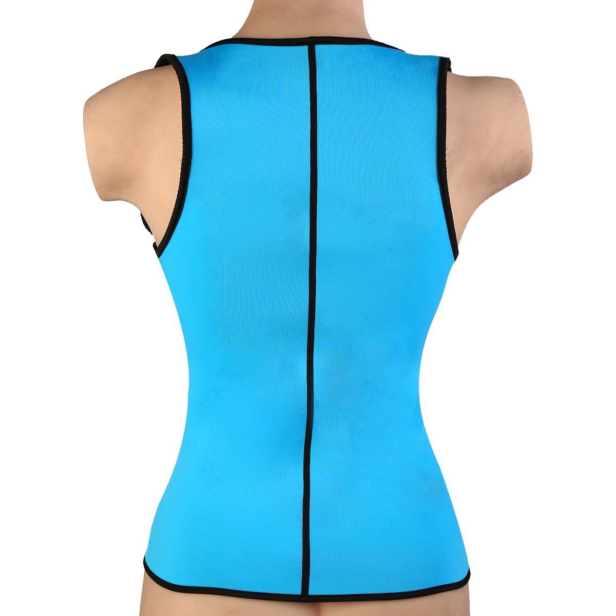 zip up neoprene slimmer waist trainer cincher corset vest