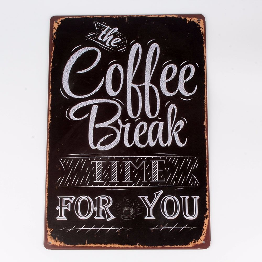 coffee beer metal tin sign vintage plaque home wall decor club retro shop us lw ebay. Black Bedroom Furniture Sets. Home Design Ideas