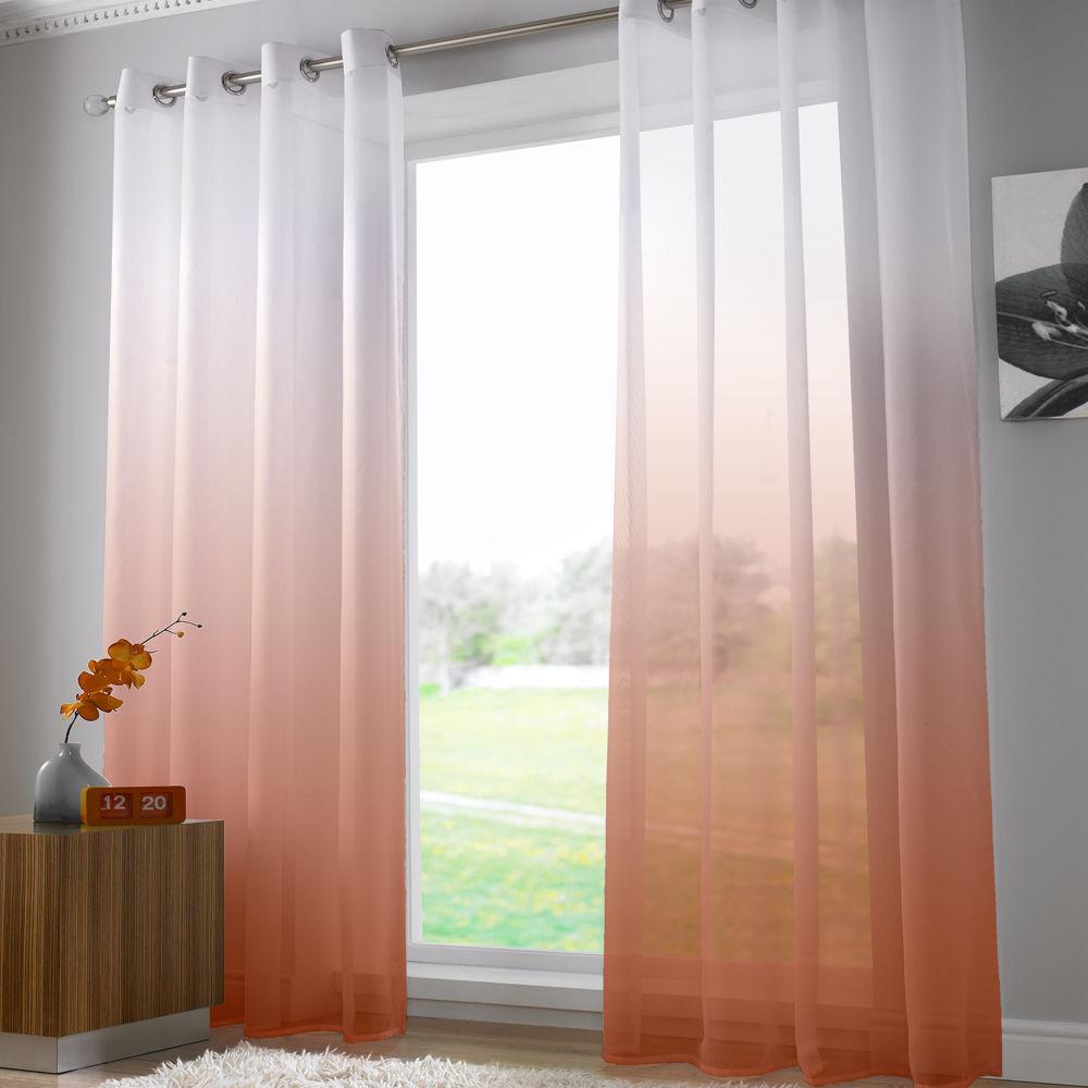 Bright Modern Net Voile Curtain Panel Eyelet Grommet Panel
