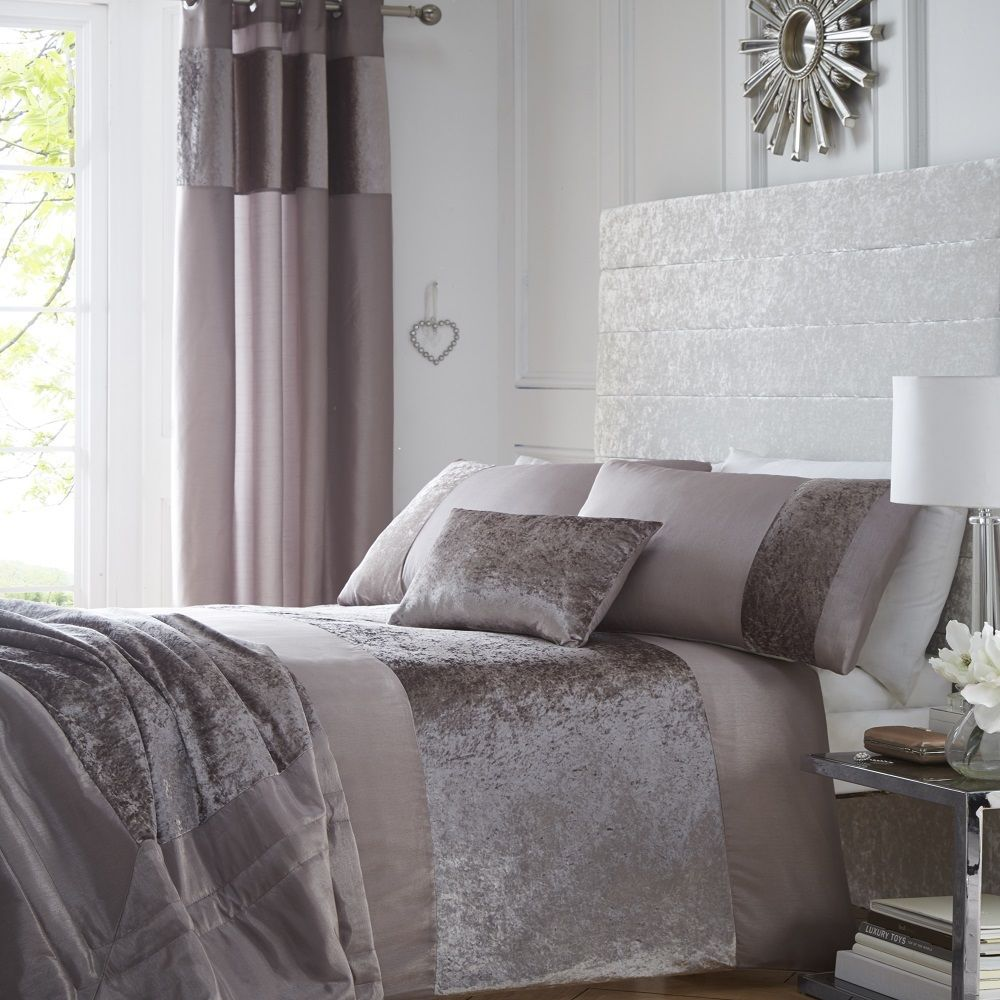 Portofino Luxury Crushed Velvet Duvet Bedding Set