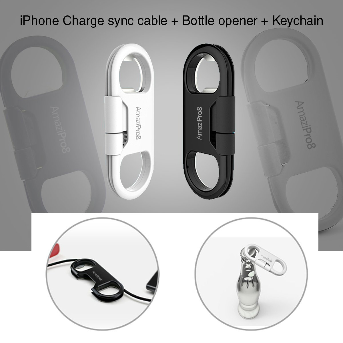 3 in 1 iphone charger bottle opener key chain mini stylus best usb lightning ebay. Black Bedroom Furniture Sets. Home Design Ideas