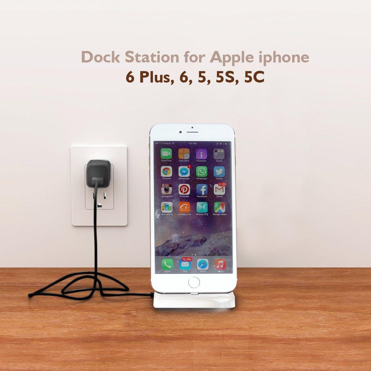 iphone charger docking station lightning dock stations stand charging station. Black Bedroom Furniture Sets. Home Design Ideas