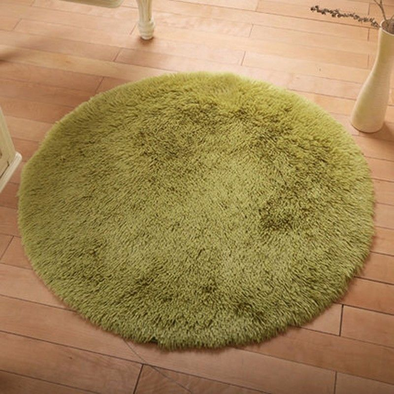 hot round fluffy rug anti skid shaggy dining room home