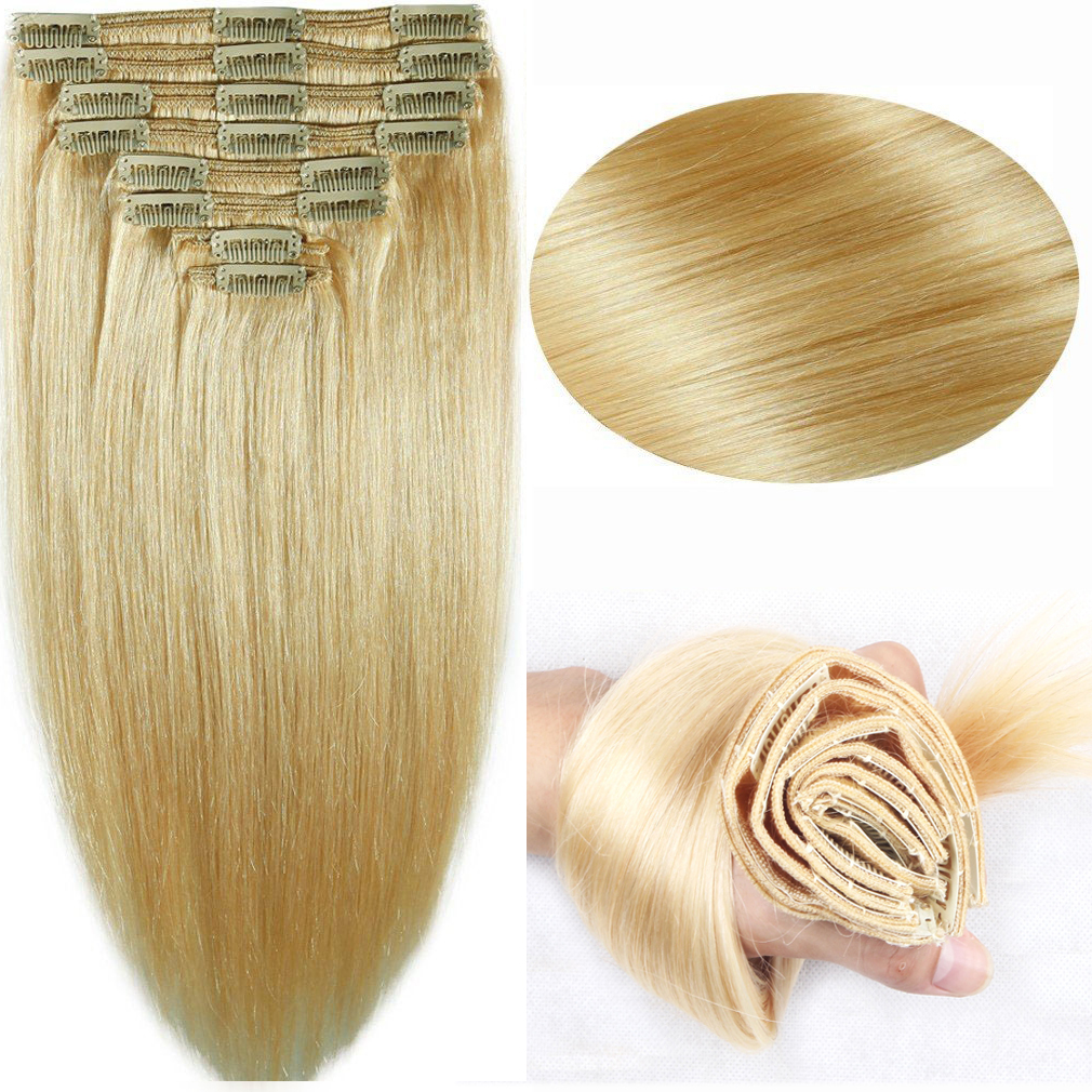 Clip In Human Hair Extensions For Thick Hair Remy Indian Hair
