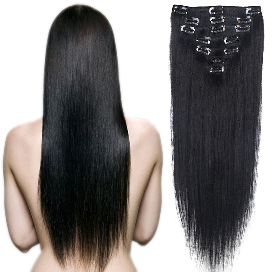 Thick Long Human Hair Wigs 42