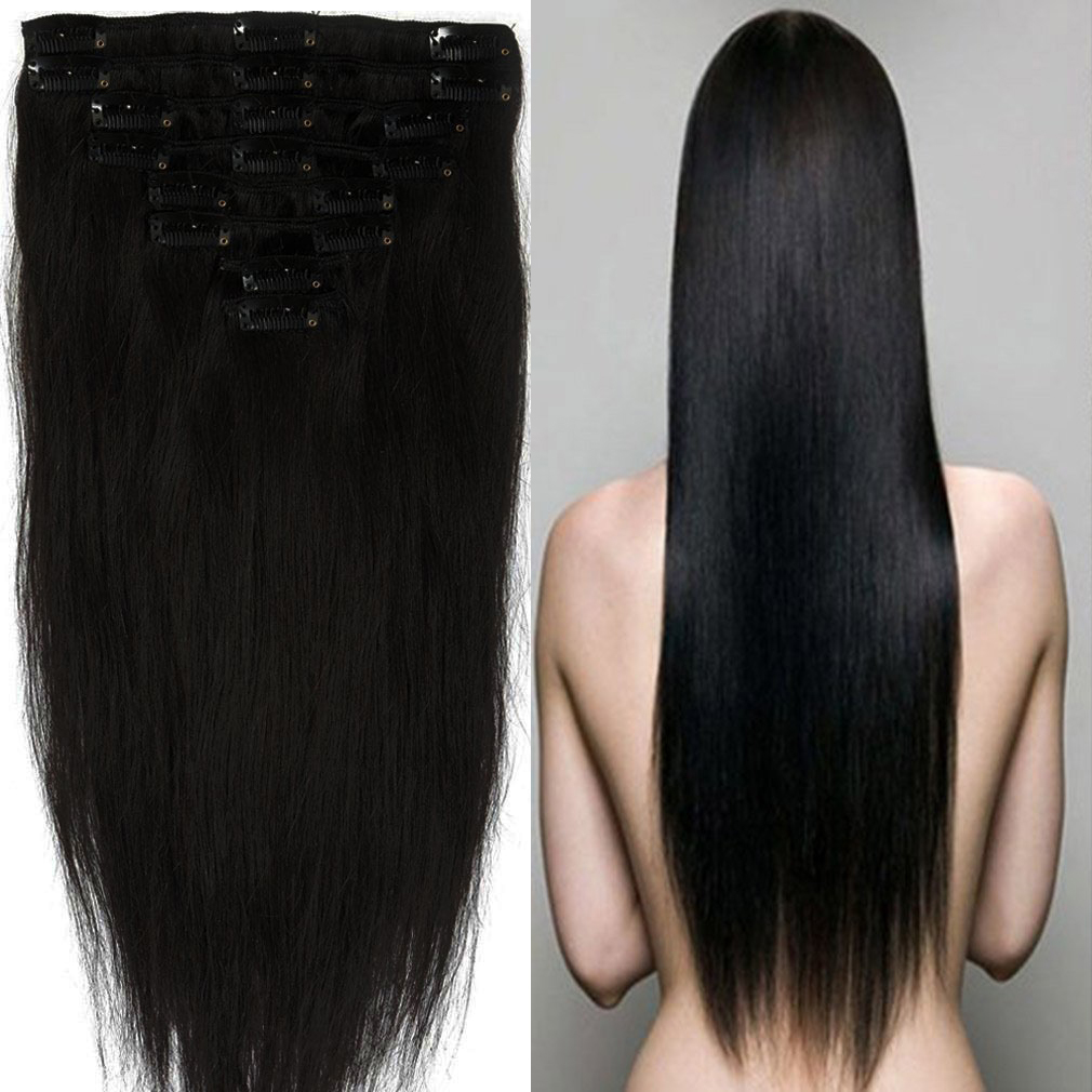 Thick Long Human Hair Wigs 34