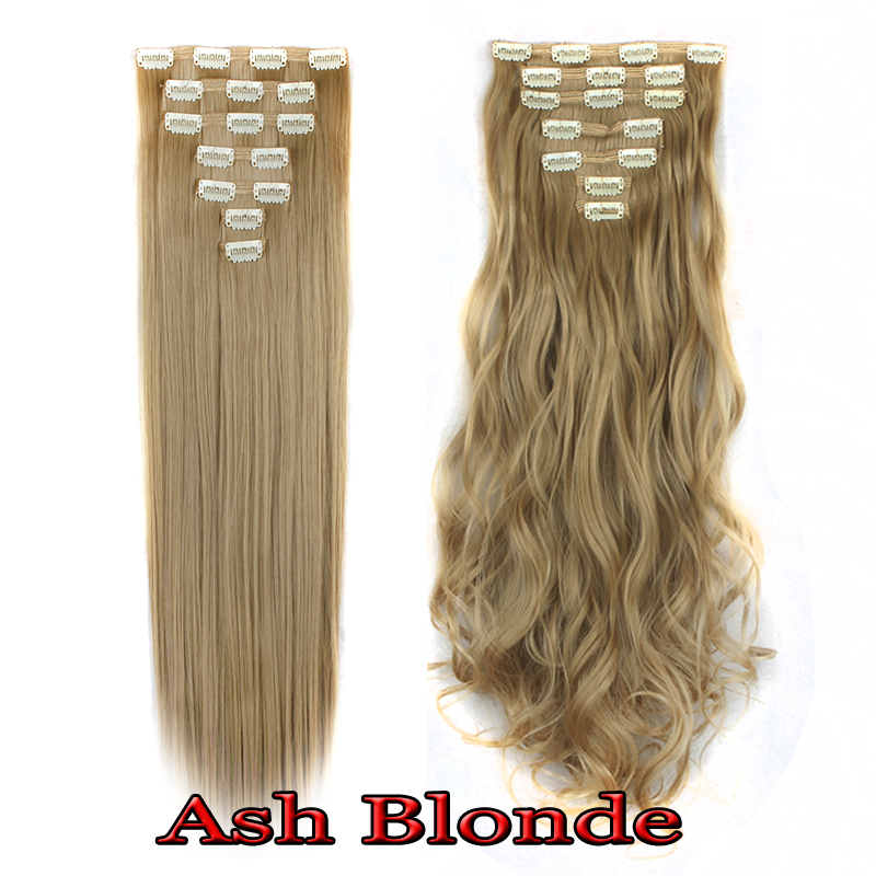Ombre Clip In Hair Extensions 8Pcs 18Clip Long