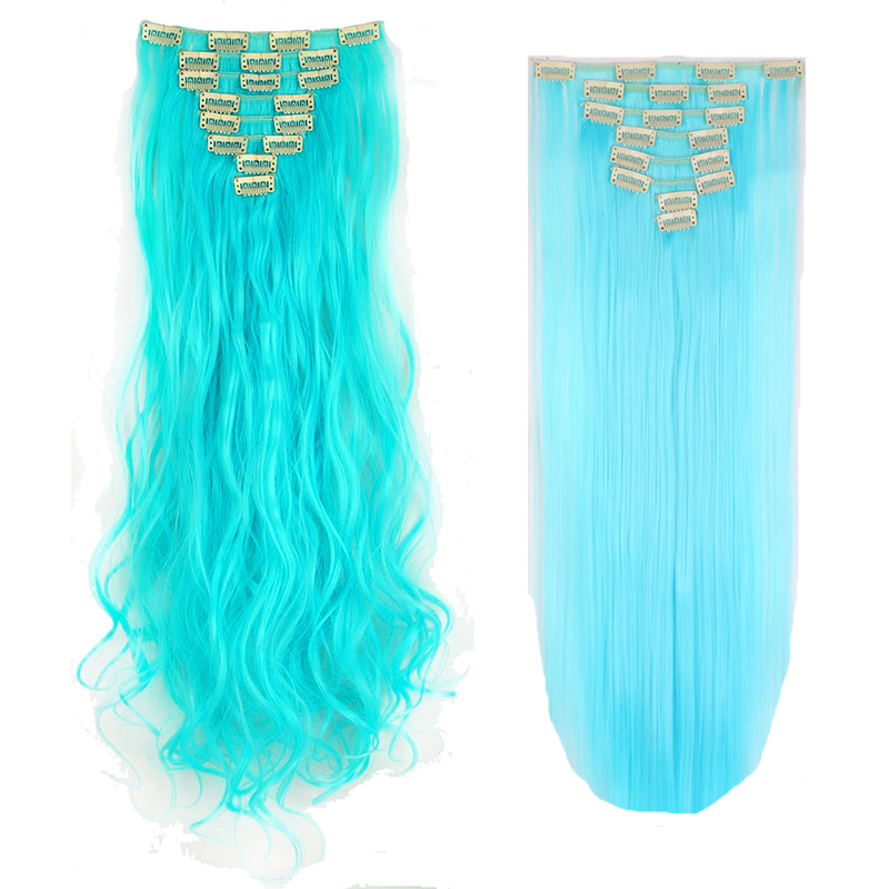 Long New Clip In Long Hair Extensions Real Natural Pony Tail
