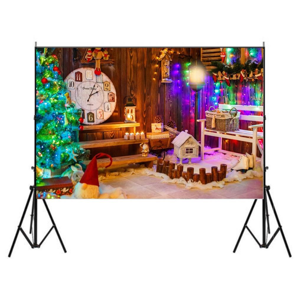 5x7ft Retro Photography Backdrop Vinyl Photo Christmas Backgrounds Studio Props
