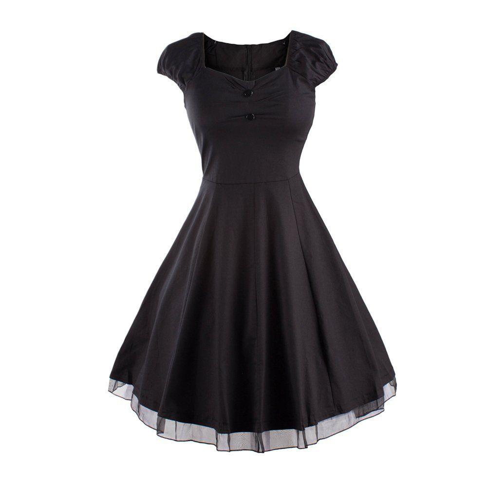Women-Vintage-50-039-S-60-039-S-Rockabilly-Swing-Retro-Cocktail-Formal-Party-Dress