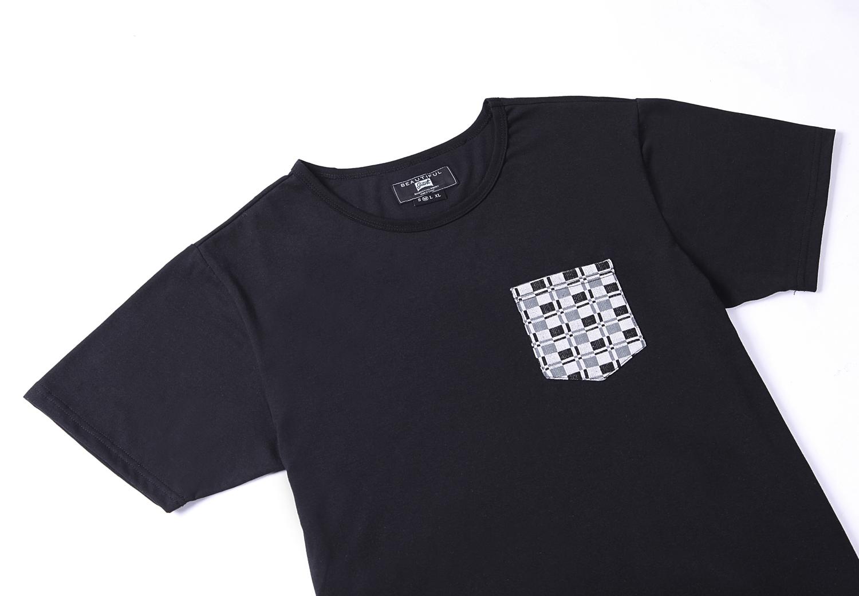 Fashion men 39 s long line hip hop crew neck short sleeve t for Long line short sleeve t shirt