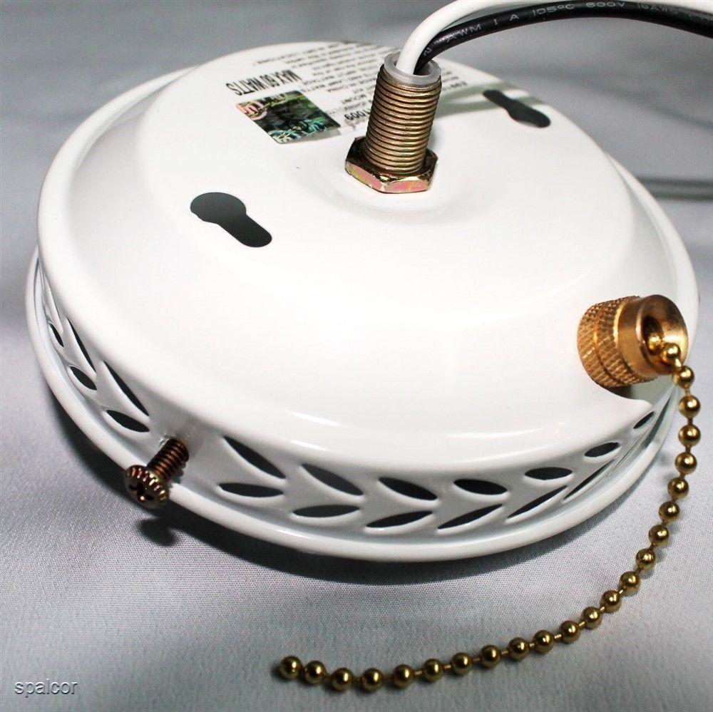 """Satco 4"""" Ceiling Fan Light Kit W/ Socket, Cap & Switch"""