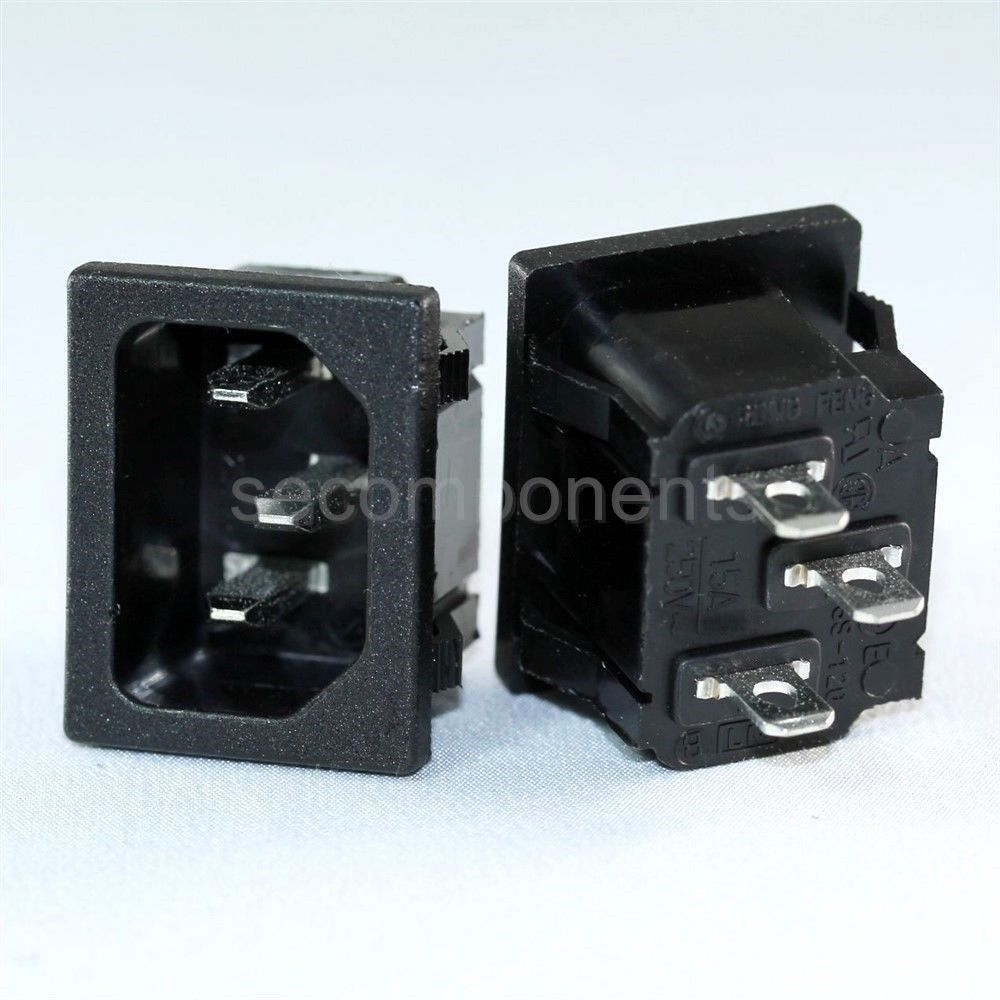 Ac Power Plugs And Sockets : Rong feng ss male receptacle ac socket power plug snap