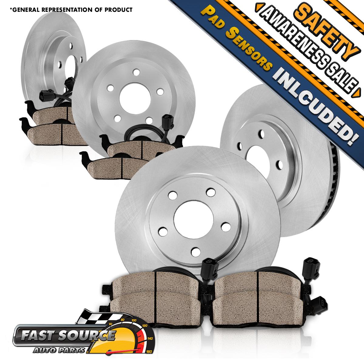 front and rear brake rotors ceramic pads 1999 2000 2005. Black Bedroom Furniture Sets. Home Design Ideas