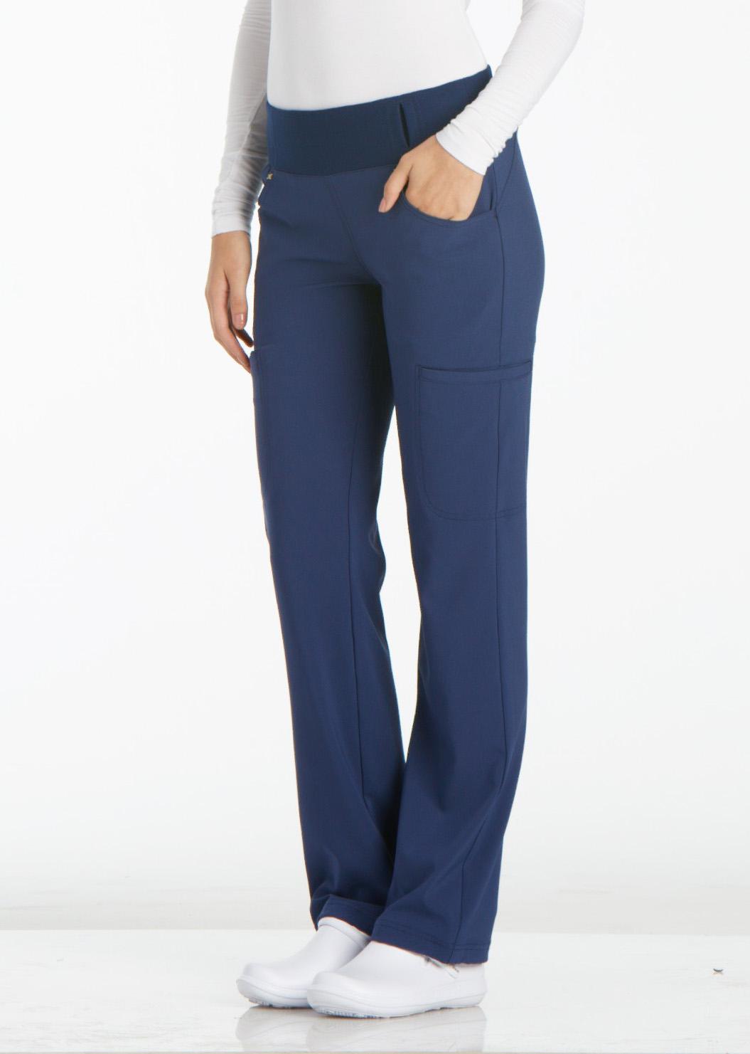 Cherokee iflex Mid Rise Straight Leg Pull-on Pant-NEW-FREE SHIP
