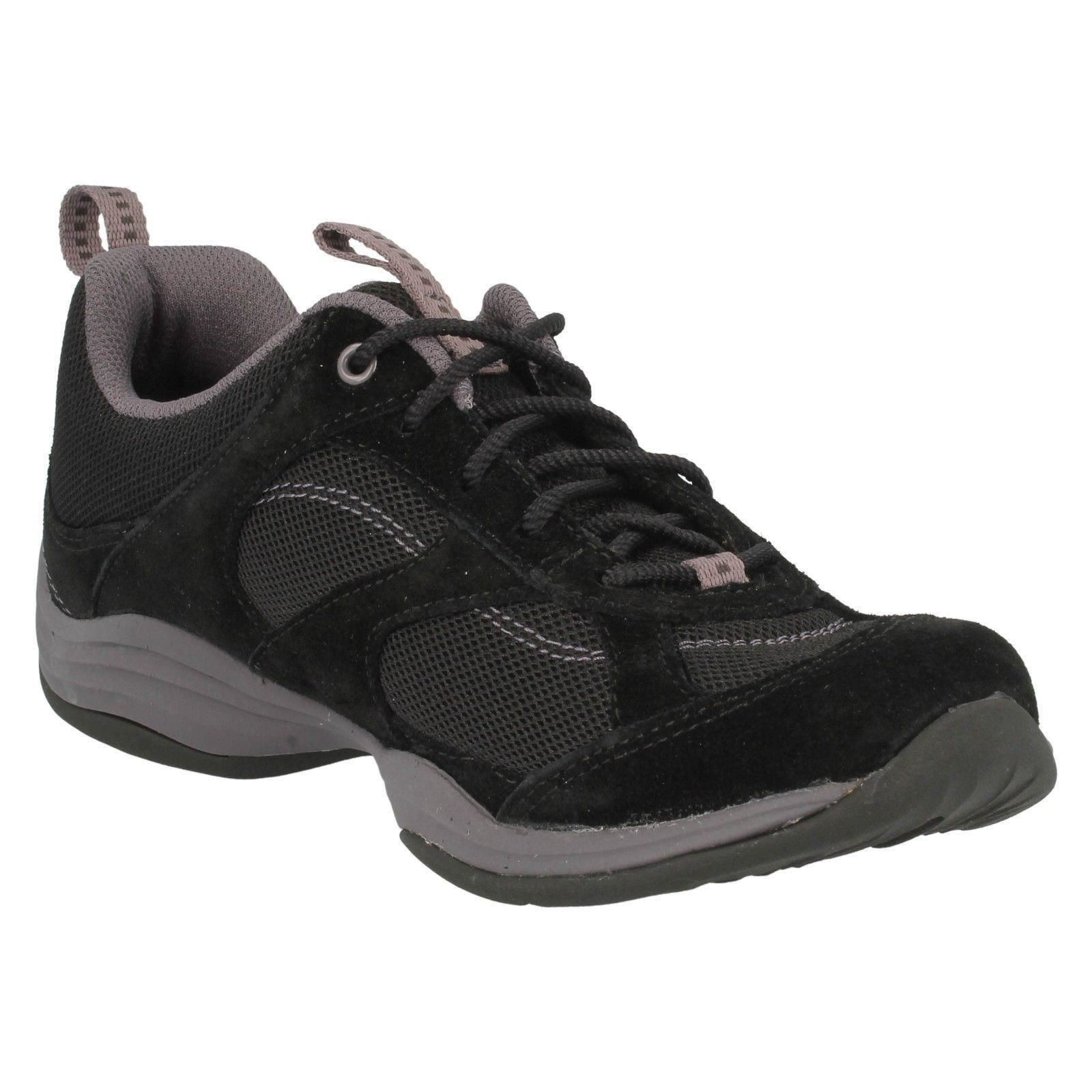 clarks black suede lace up everyday walking