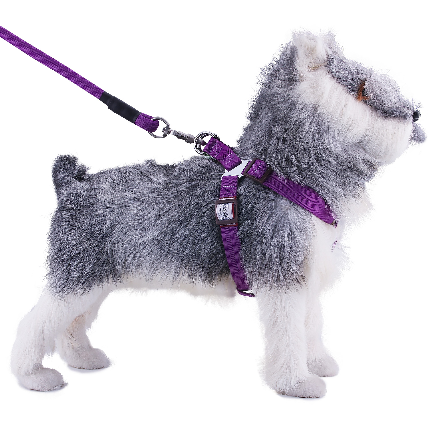 Dog Harness and Leash Set Heavy-Duty Rope Leash Adjustable No Pull Harness Vest