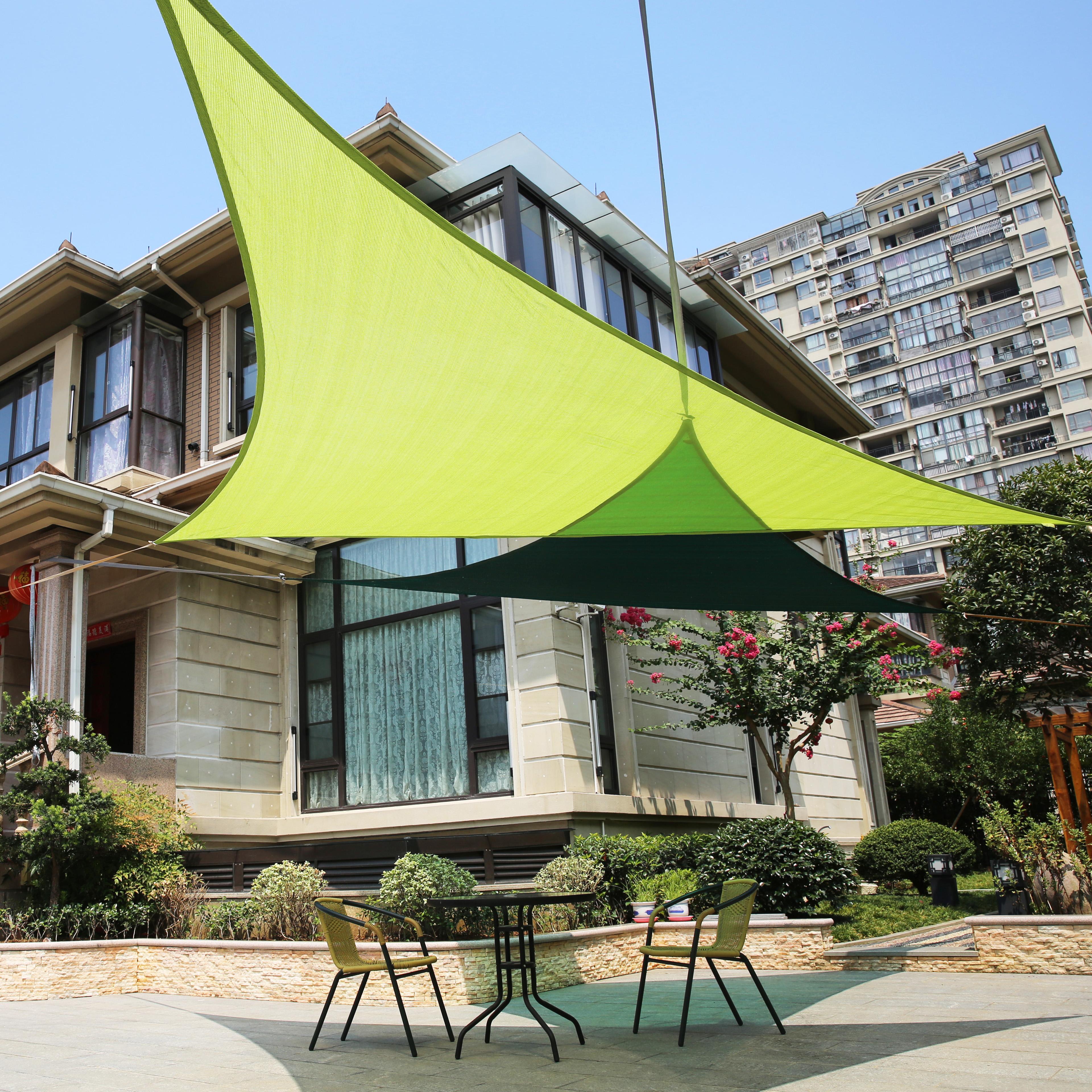 Lyshade 16 39 5 right triangle sun shade sail canopy uv for Sun shade structure