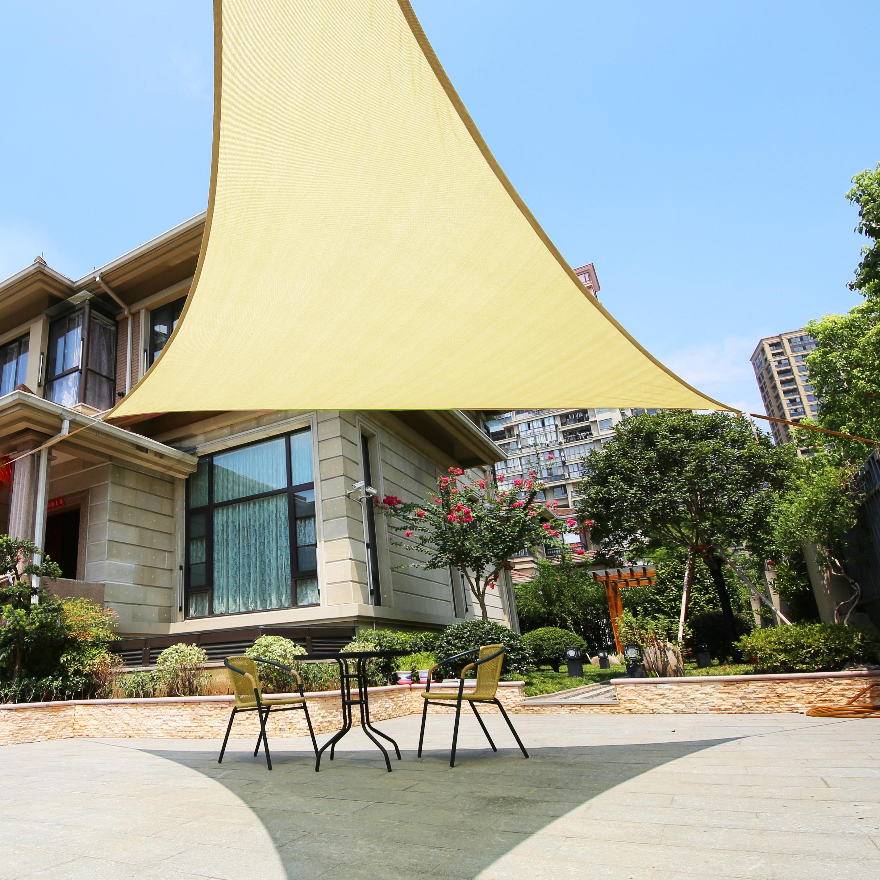 "Backyard Sails Shades: LyShade 16'5"" Right Triangle Sun Shade Sail Canopy With"