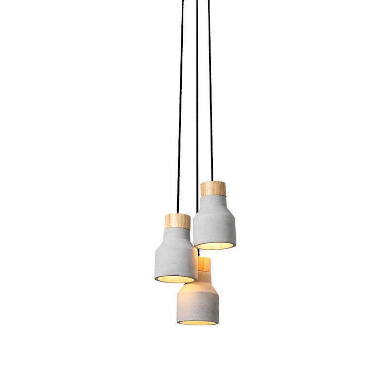 Concrete Pendant Lighting Independent Design 1or3 Light
