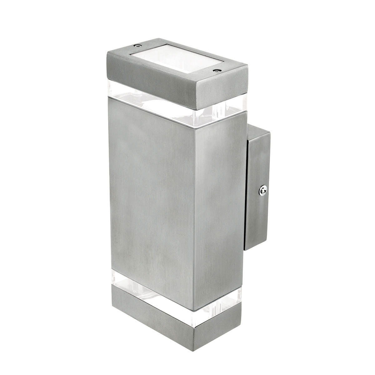 rectangular up down exterior wall light charcoal stainless steel gu10 ebay. Black Bedroom Furniture Sets. Home Design Ideas