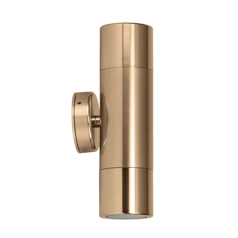 Exterior up down sconce cylinder wall light aluminium for Exterior up down wall light