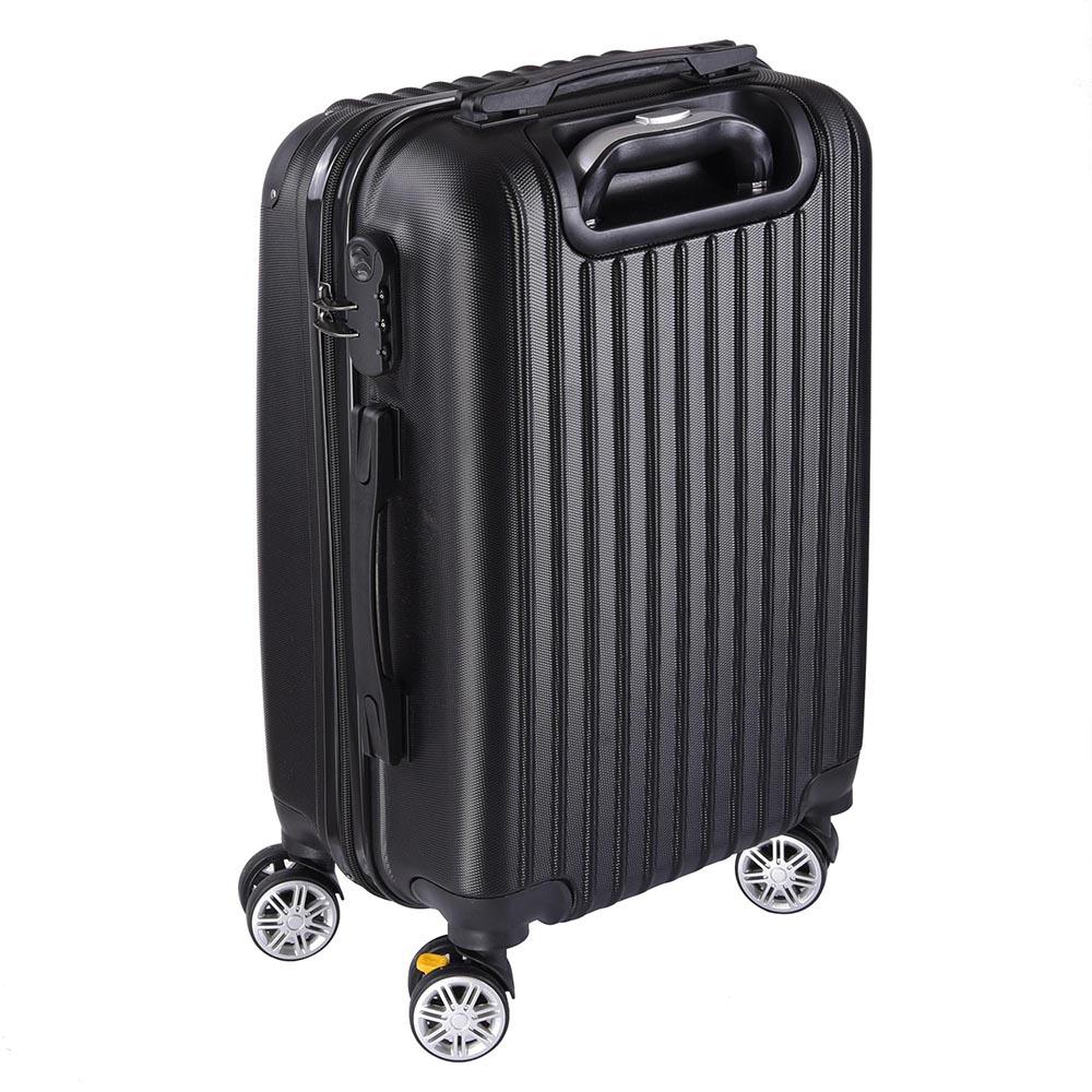 20 cabin luggage suitcase code lock hard shell travel. Black Bedroom Furniture Sets. Home Design Ideas