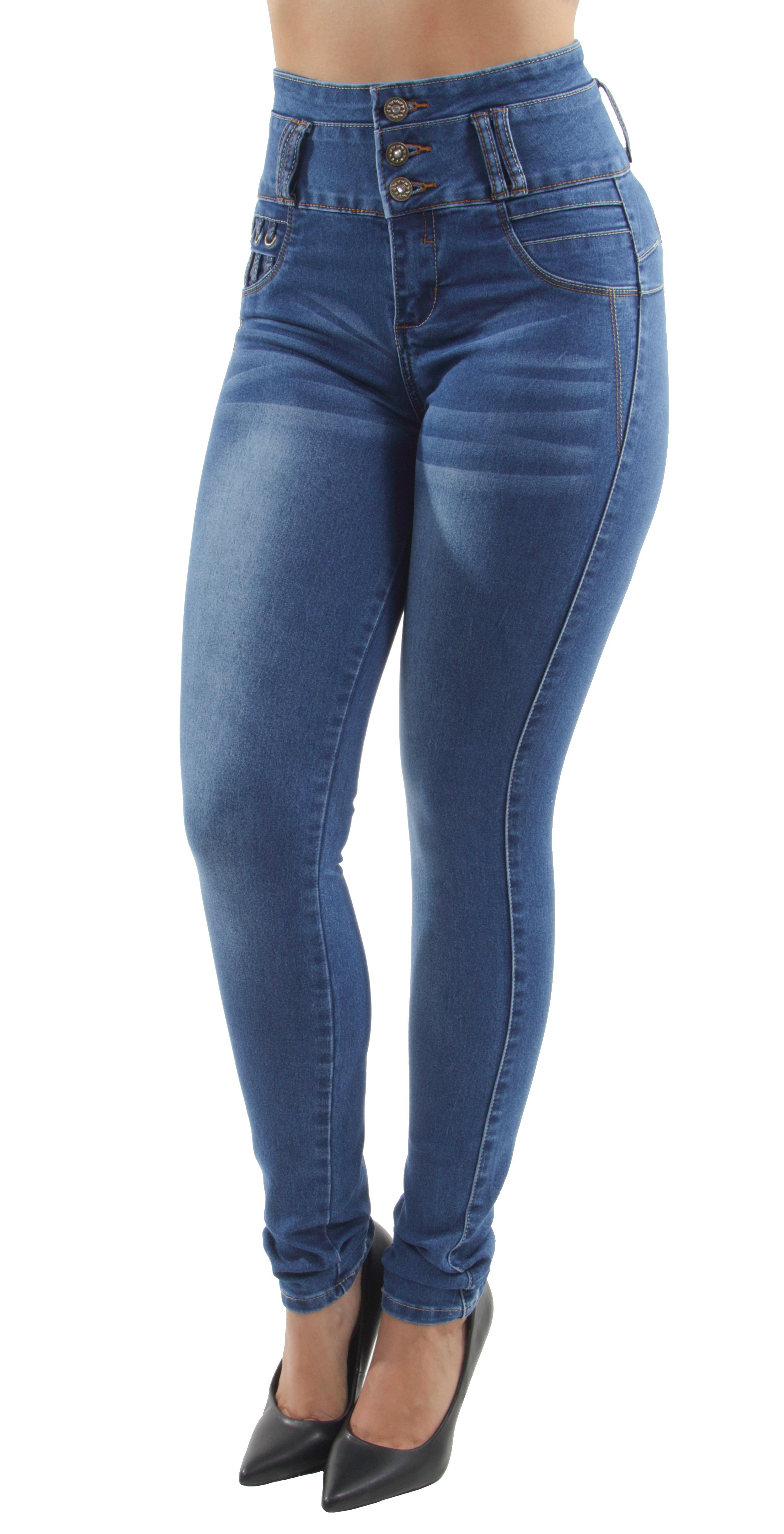 High Waist Push Up Butt Lift Colombian Design Skinny Jeans