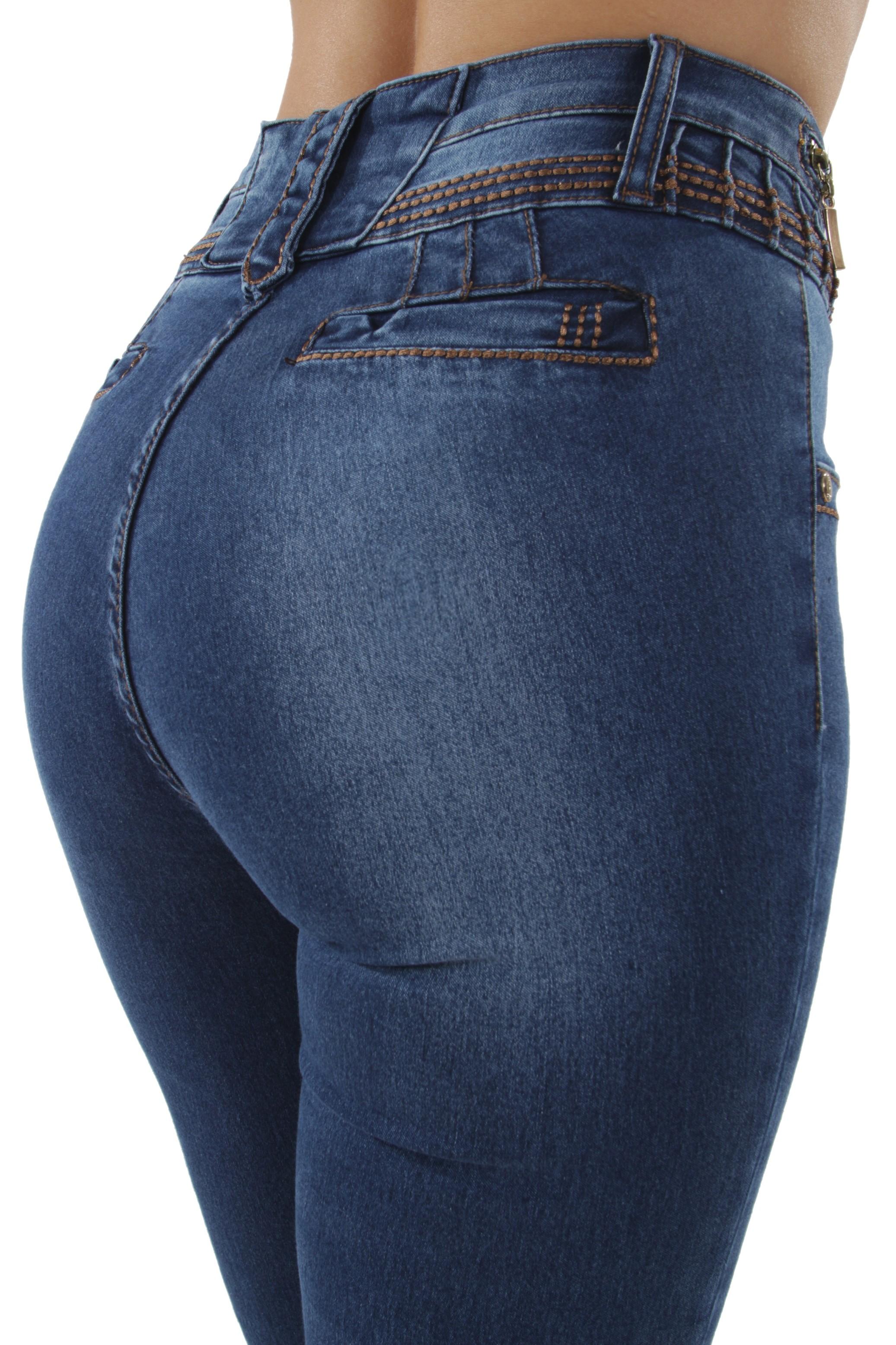 Push Up Skinny Jeans Butt Lift High Waist Colombian Design