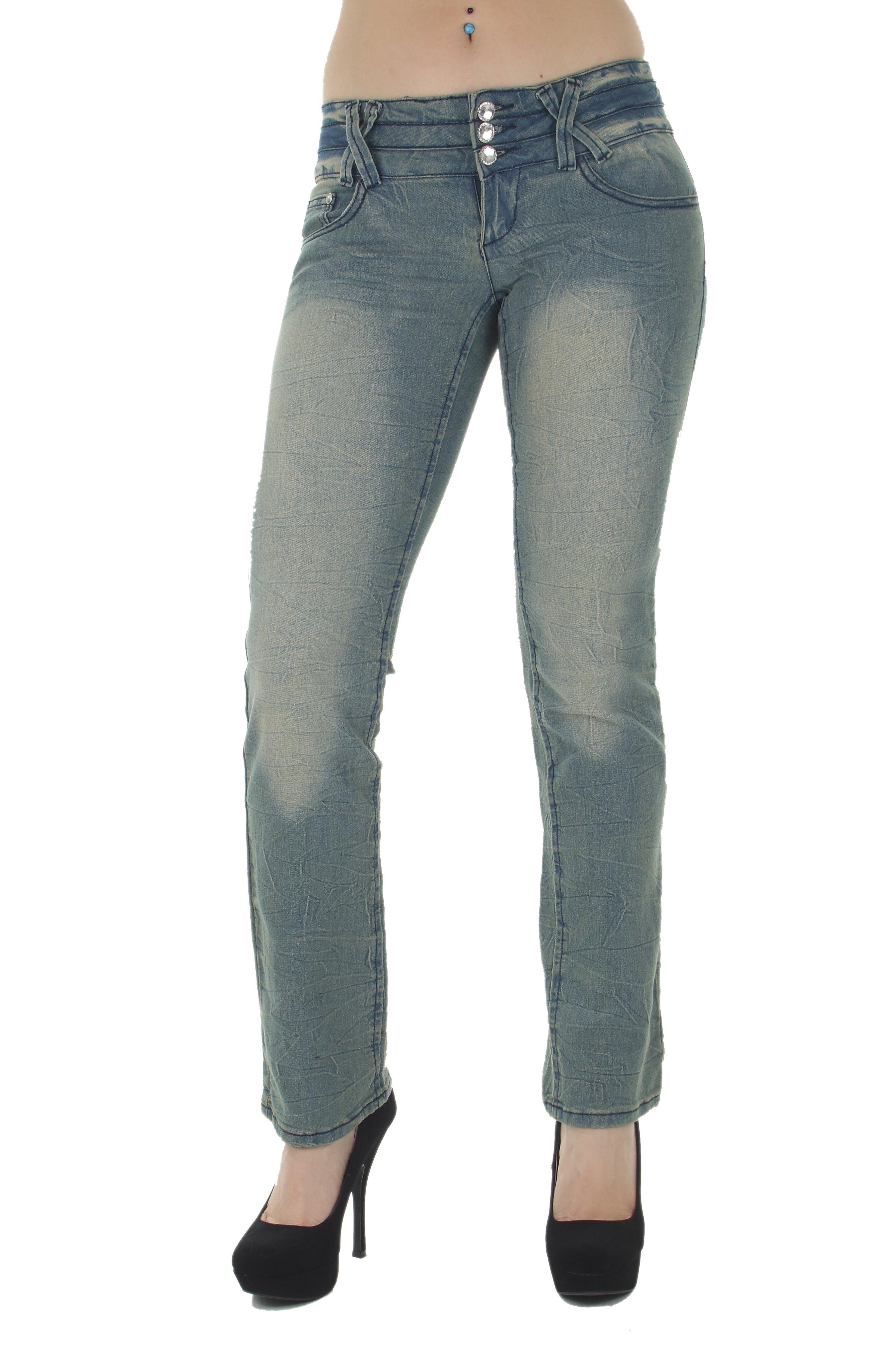 Colombian Design Boot Leg Jeans Levanta Cola Low Waist Butt Lift