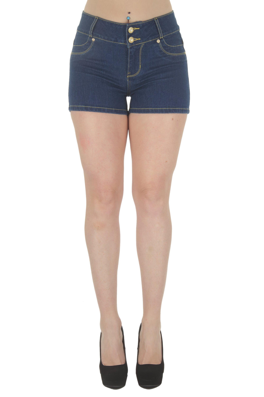 Mid Waist Denim Shorts Plus Size Butt Lifting Levanta Cola