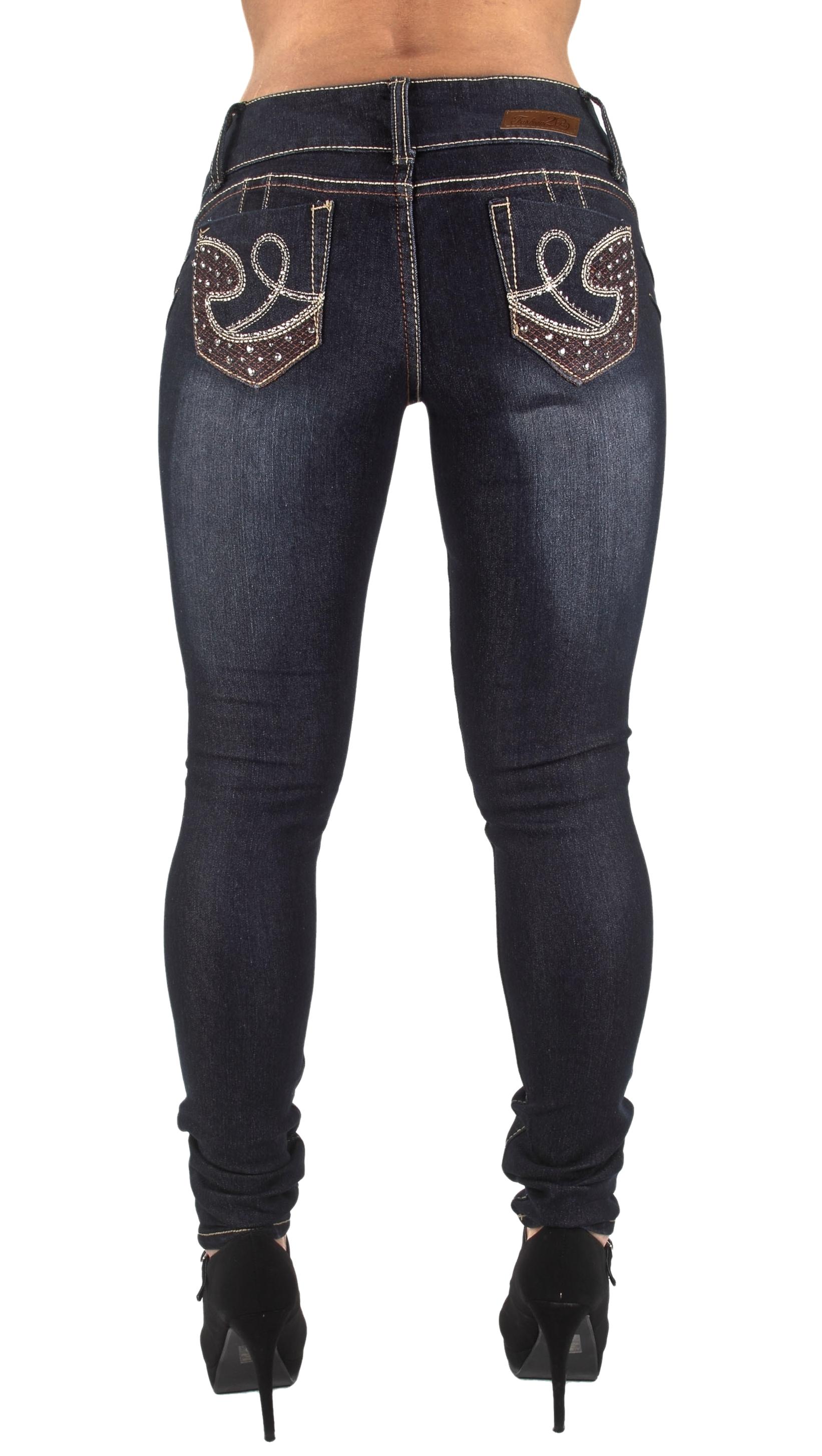Plus Size High Waist Skinny Leg Jeans Butt Lifting