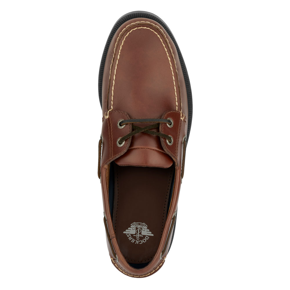 Dockers Mens Castaway Genuine Leather Casual Classic Rubber Sole Boat Shoe