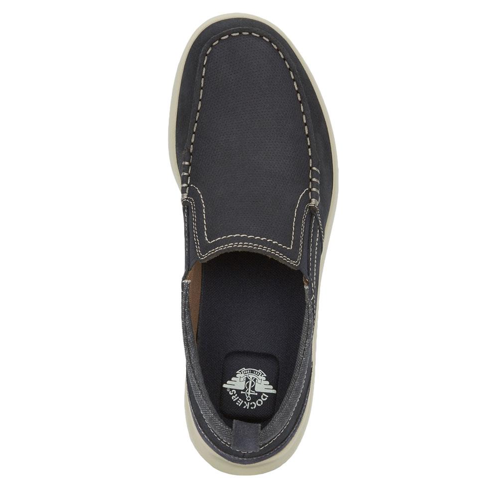 Dockers Mens Collins Genuine Nubuck Leather Casual Slip-on Comfort Loafer Shoe