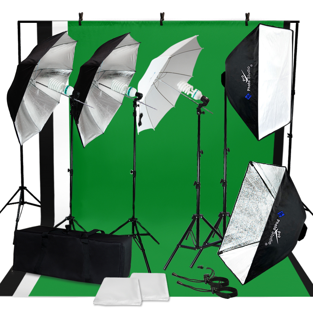 photography photo studio lighting kit umbrella softbox. Black Bedroom Furniture Sets. Home Design Ideas