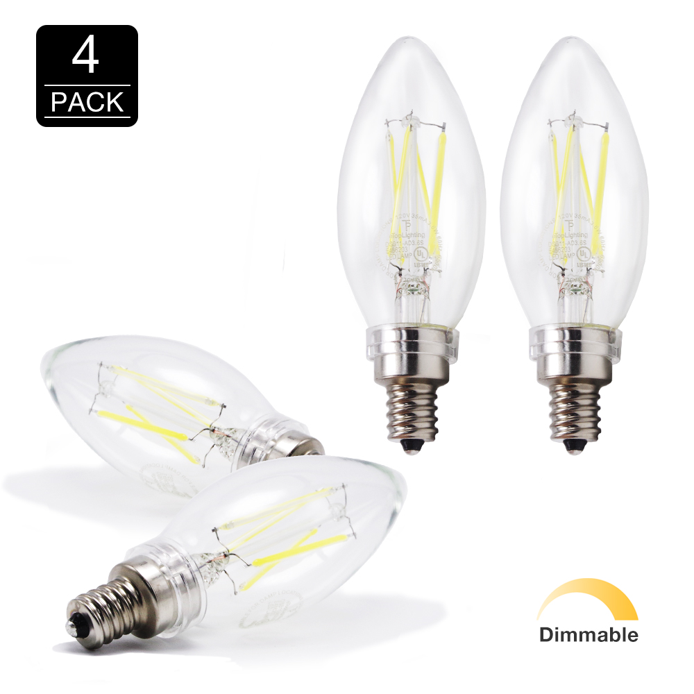 E12 Led Dimmable: LED 6500K Daylight 40W Equivalent Dimmable Cool Chandelier