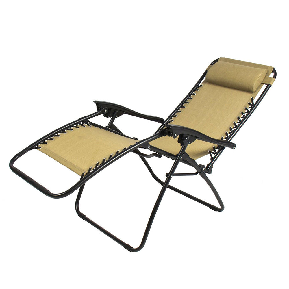 outdoor lounge chair zero gravity folding recliner patio pool yard lounger ebay. Black Bedroom Furniture Sets. Home Design Ideas