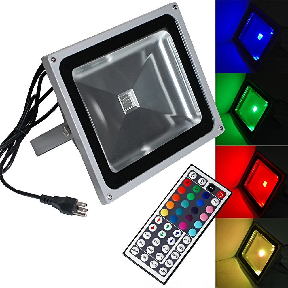 200w 50w 30w 20w 10w led rgb flood spot light outdoor for Focos led exterior 50w