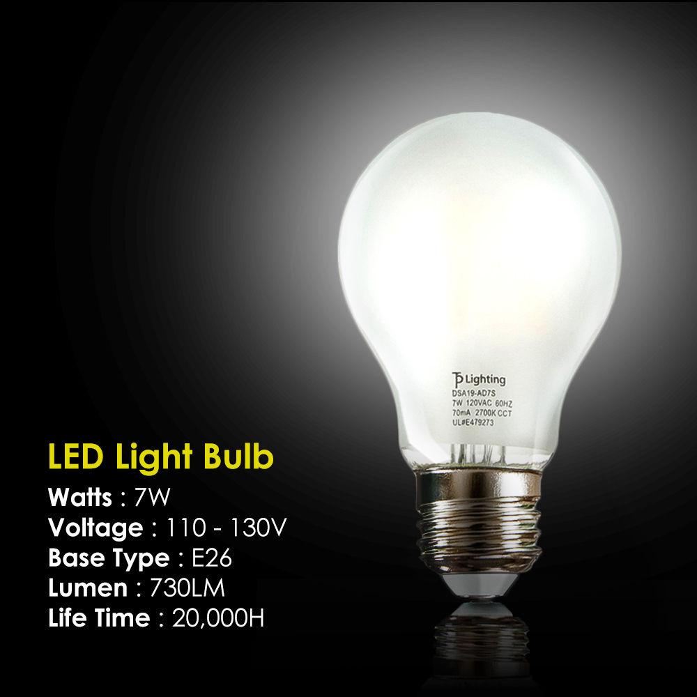 60 Watt Equivalent Slimstyle E26 Led Light Edison Bulb Soft 5700k 4 8 12 Pack Ebay