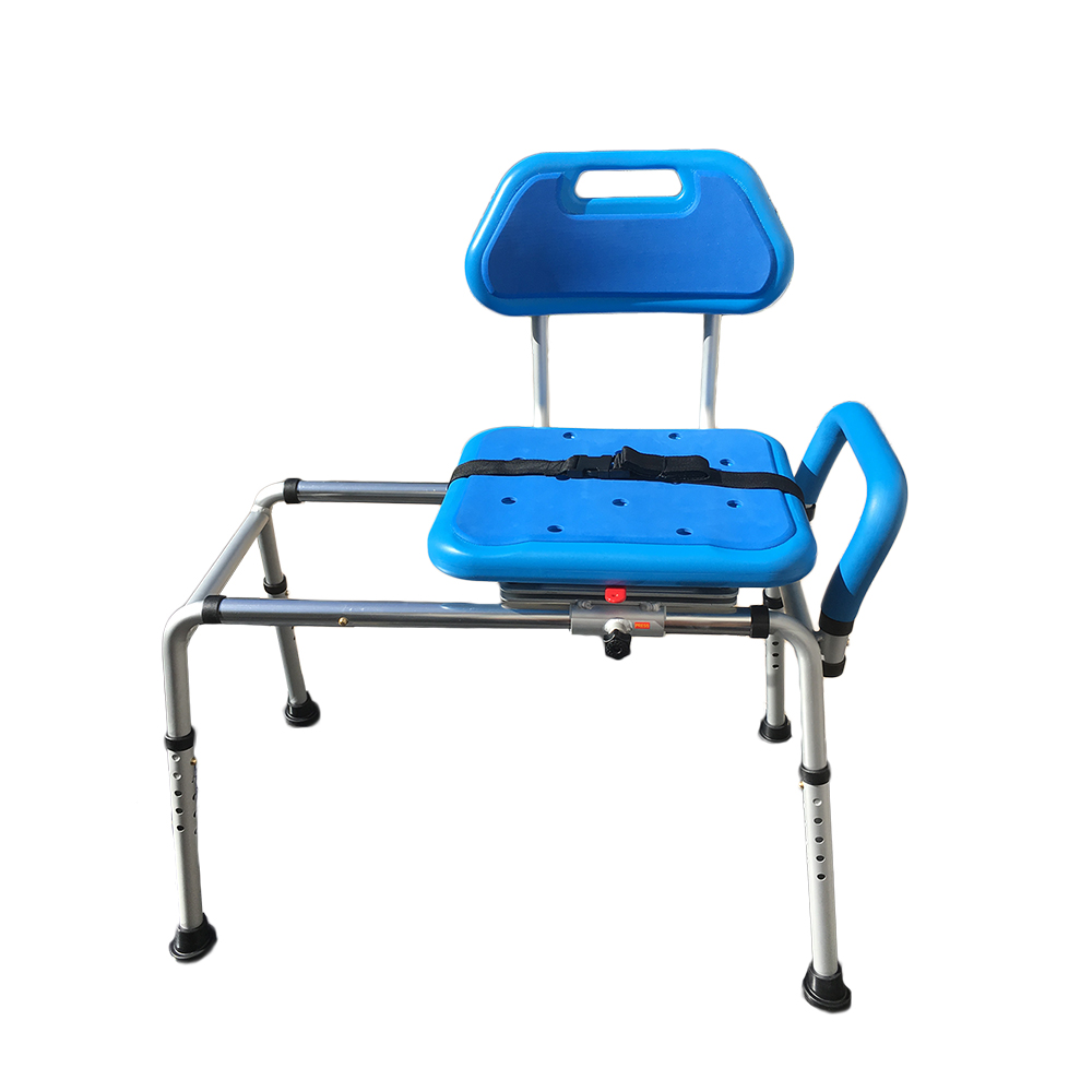 Gateway premium sliding bath shower transfer bench padded with swivel seat ebay Padded bench seat