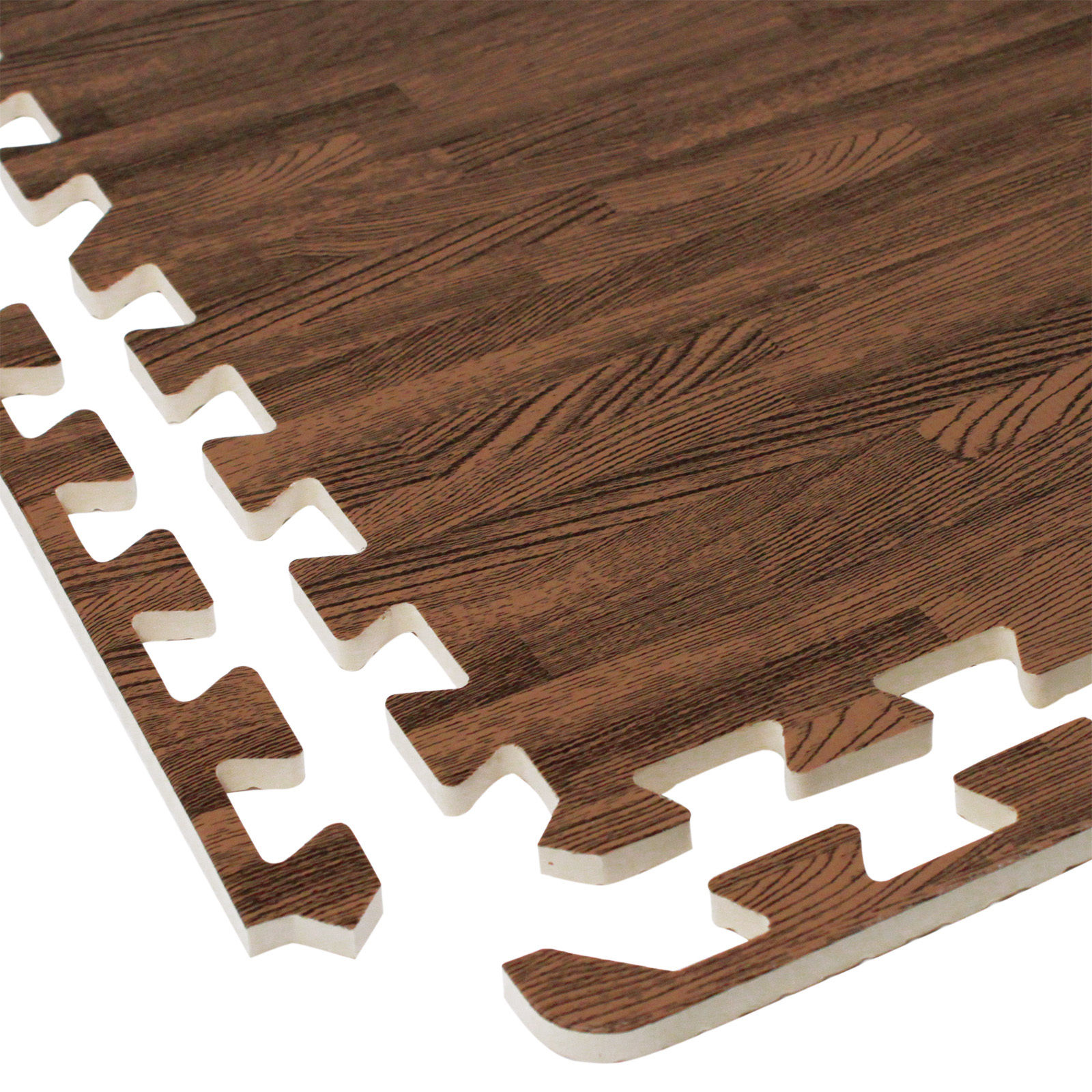 interlocking eva foam wood grain puzzle mat floor tiles 64