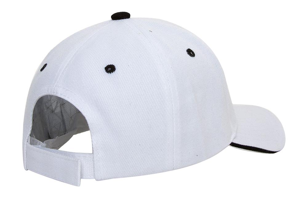 TopHeadwear Plain Adjustable Curved Sandwich Bill Caps