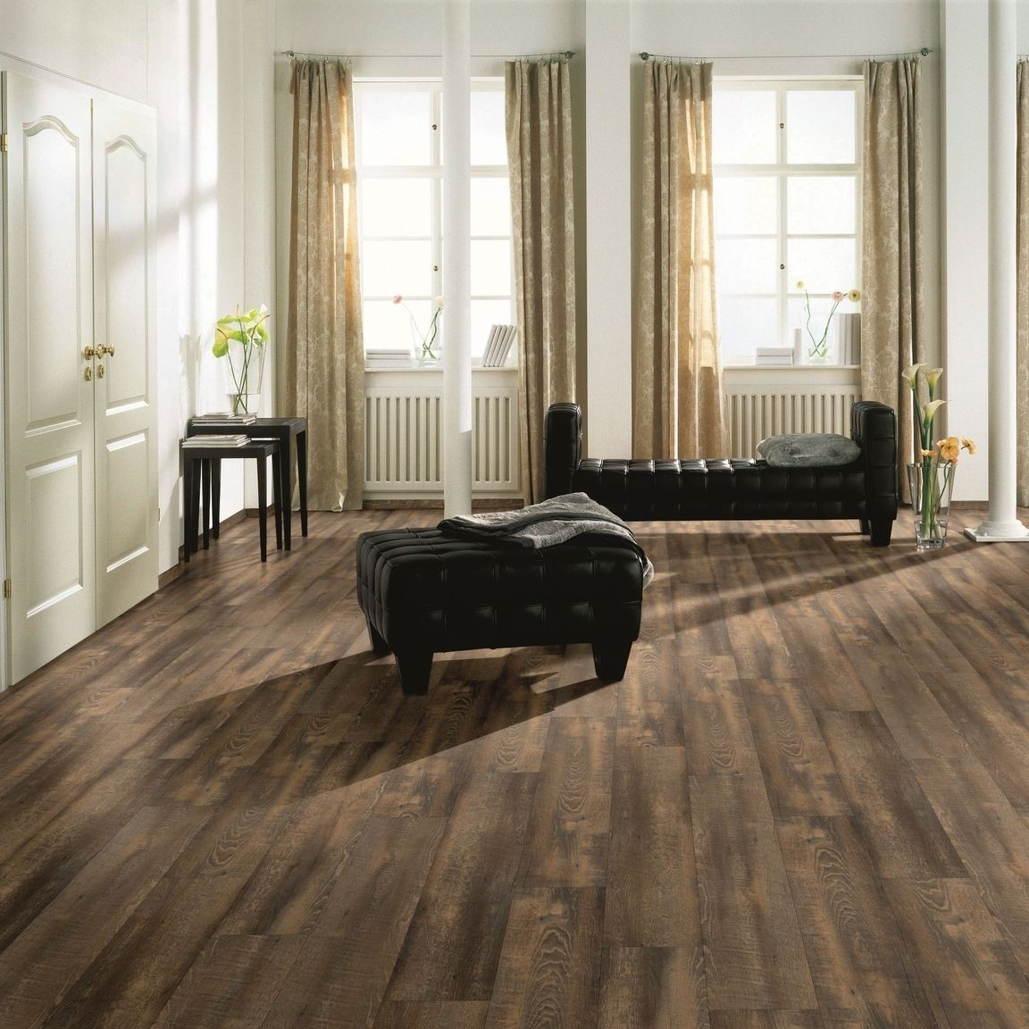 hori vinylboden pvc klick boden eiche chalet toulouse mit fase d mmung leisten ebay. Black Bedroom Furniture Sets. Home Design Ideas