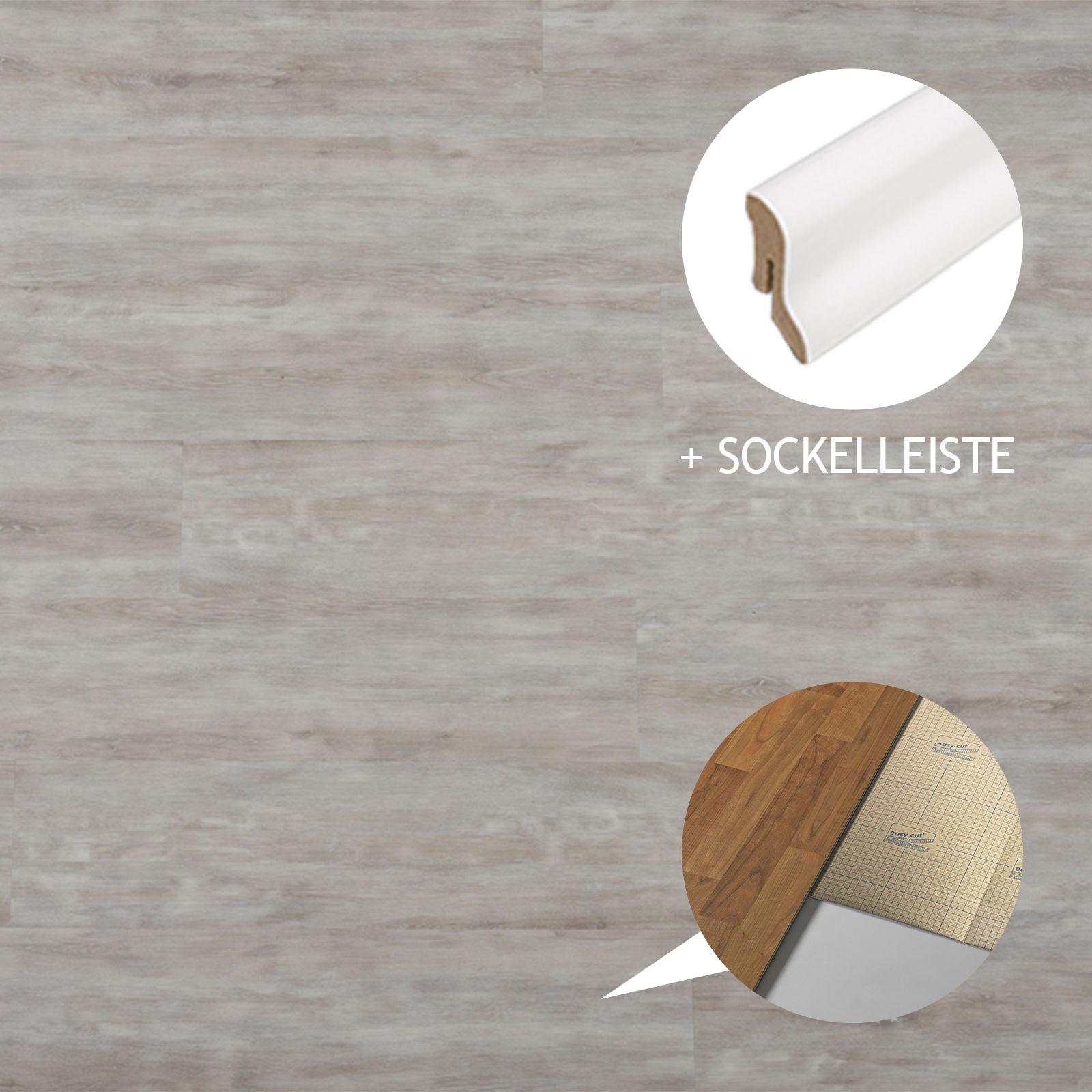 hori vinylboden pvc klick boden eiche sydney schlossdiele d mmung leisten ebay. Black Bedroom Furniture Sets. Home Design Ideas
